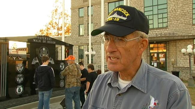 Veterans Honored With Walkway At Delaware County Courthouse