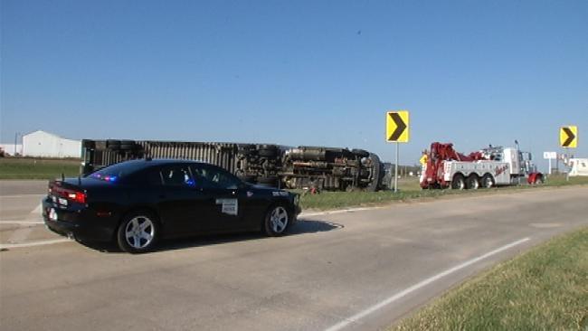 Eastbound Lane I-244 Back Open After Semi Truck Overturned