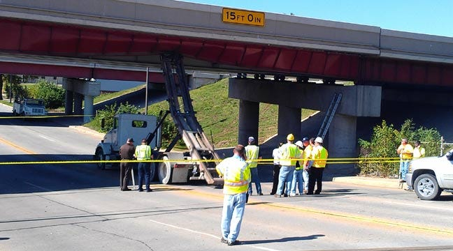 Eastbound I-244 Remains Closed Downtown One Day After Bridge Was Hit