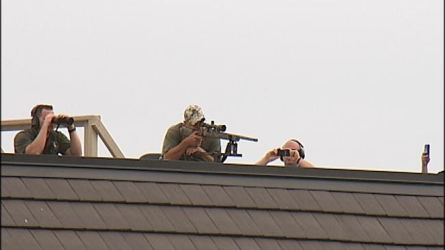 Crew Demonstrates Technology Aimed To Pinpoint Terrorists At Large Events