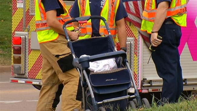 Tulsa Police: Passing Jeep Knocks Baby From Stroller