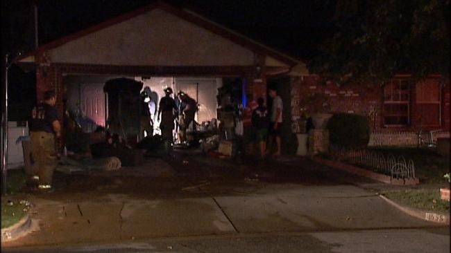 No One Hurt In Garage Fire At East Tulsa Home