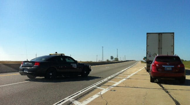 OHP Diverting Game Day Traffic On Turner Turnpike Near Wellston