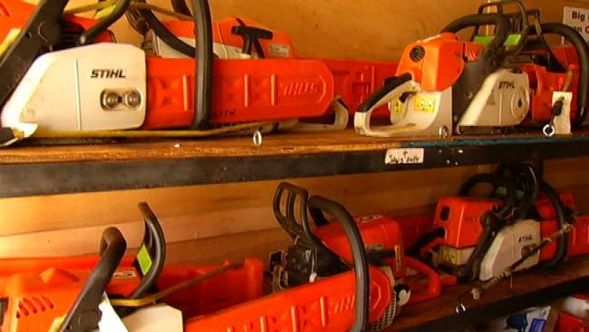 Disaster Relief Chainsaw Team Prepares To Go East To Help Storm Victims