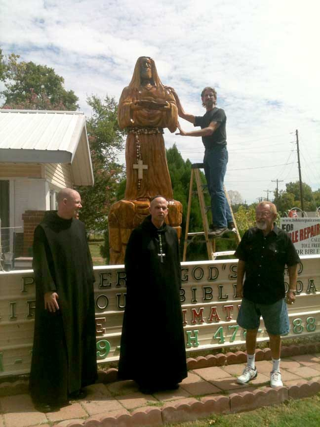 Chainsaw Sculpture Of Jesus Unveiled In Fort Gibson