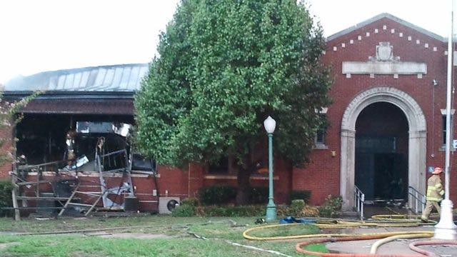 School District Fences Off Burned Tulsa School Building To Keep Out Memorabilia Collectors