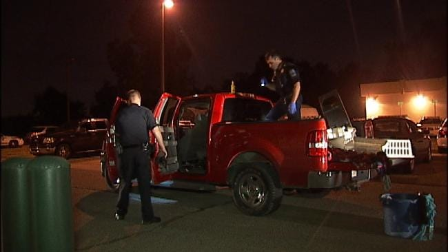 Pickup Crashes Into Tulsa Police Parking Lot
