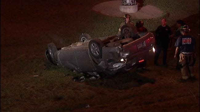 Several Drivers Wreck On Tulsa Highway Overnight