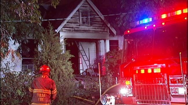 Tulsa Resident Tries To Put Out House Fire With Garden Hose