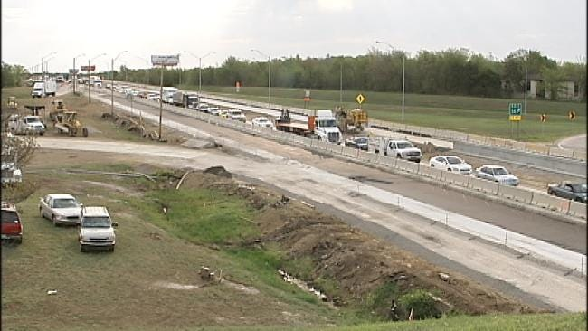 Car Crash Brings I-244 Traffic In Tulsa To A Stop