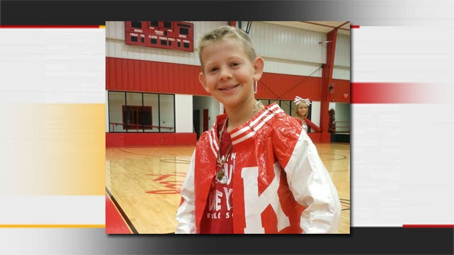 Kiefer 7th Grader Shows Spirit With Duct Tape Letterman's Jacket