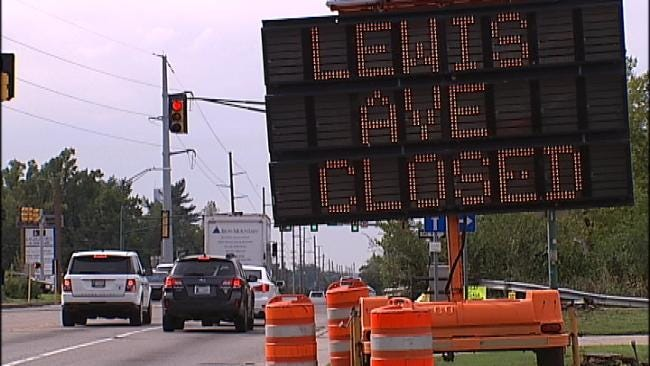 Tulsa's Lewis Avenue At I-44 Closed For Interstate Widening Project