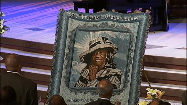 Friends, Family Say Goodbye To Tulsa's Mother Grace Tucker