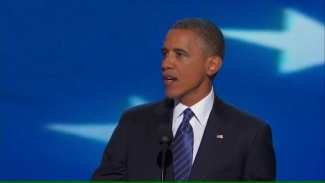 President Obama Accepts Democratic Party Nomination For Re-Election