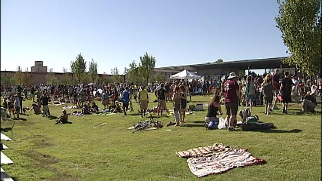 Tulsa's 'Guthrie Green' Opens With Music, Family Fun In Brady District