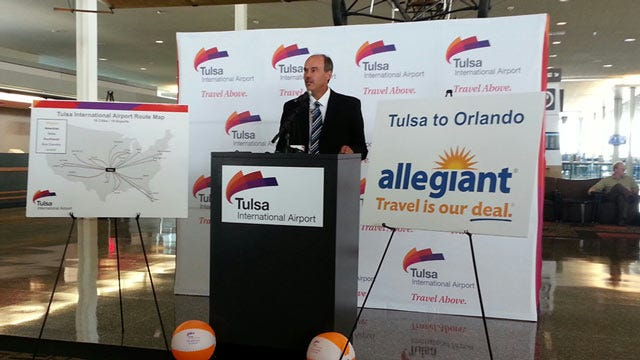 Allegiant Airlines Announces Flights Between Tulsa and Orlando