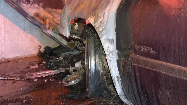 Fire Damages Cars In Tulsa Hospital Parking Garage