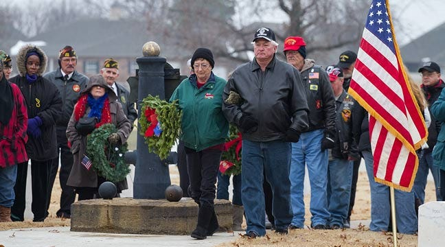 Wreath-Laying Ceremony Honors Veterans At Fort Gibson National Cemetery