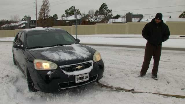 Tulsa Road Conditions Challenge Drivers, Work Crews