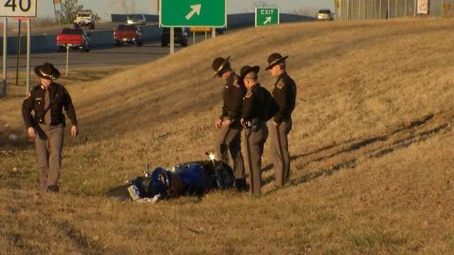 Motorcyclist Attempts To Evade Troopers, Crashes on U.S. 169