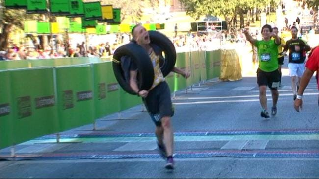 Tulsan Finishes Top Third In Austin Marathon While Carrying 2 Car Tires