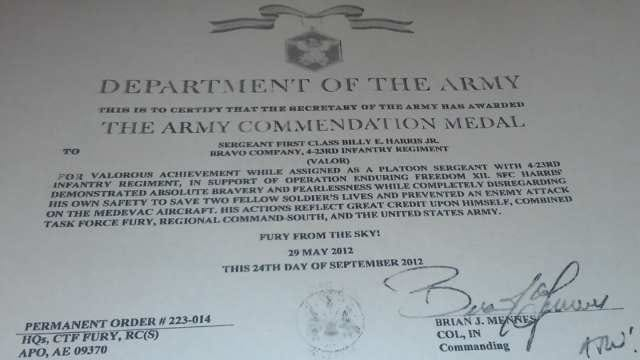 Skiatook Soldier Awarded For Bravery In Minefield