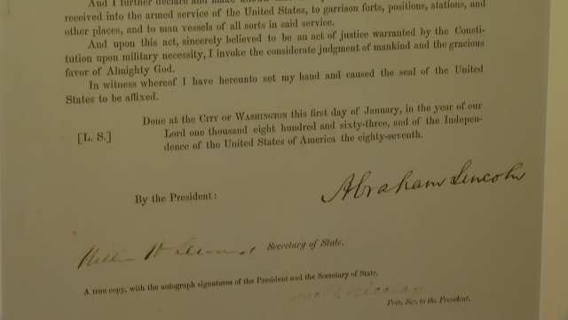Gilcrease Museum Displays Signed Copy Of Emancipation Proclamation