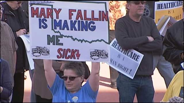 Supporters Of Medicaid Expansion Protest At Oklahoma State Capitol