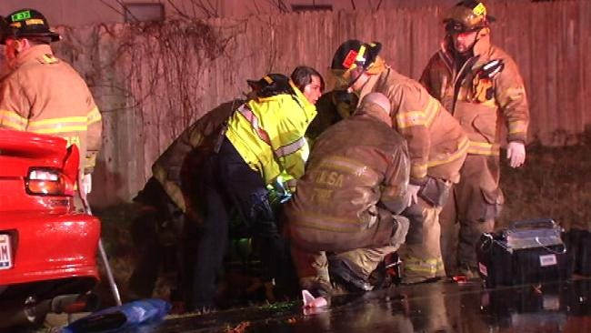 Wet Road, Excessive Speed Blamed For Tulsa Car Crash