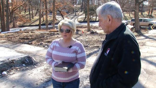 Bible Survives Fire That Destroyed Jenks Family's Home
