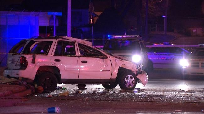 Tulsa Police: Girl's Joyride Ends With Wreck, Injuries To Friends