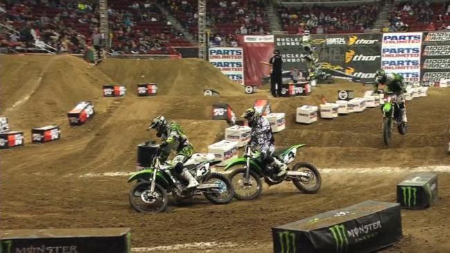 Crews Get Tulsa's BOK Center Ready For Arenacross Racing