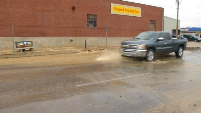 Westbound Lanes Of 6th Street Closed At Utica For Repairs To Water Line
