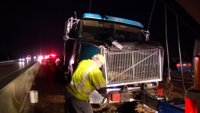 Semi Crash Closes Westbound Lanes Of Will Rogers Turnpike