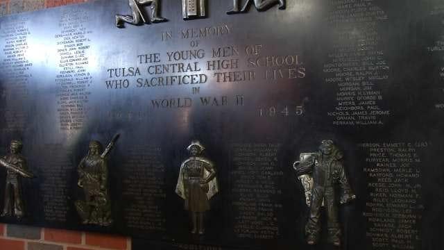 Tulsa's Central High School Honors Its War Dead