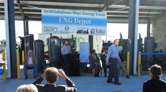 Tulsa Opens State's Largest CNG Fueling Station