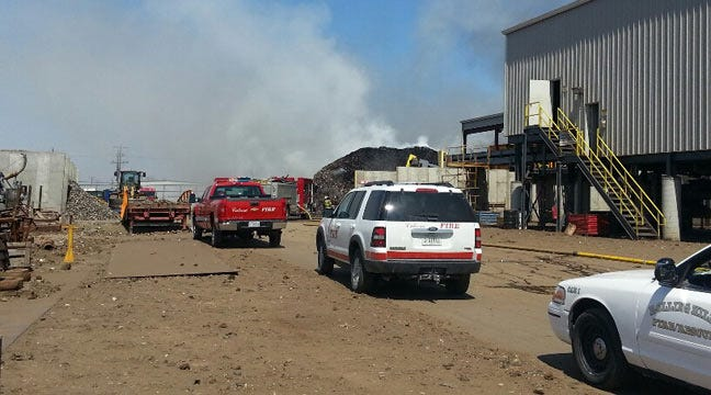 Large Fire Reported At CMC Recycling In Catoosa