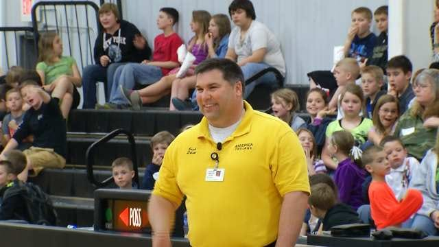 Hoops Spectator Saved By Quick Action, Training Of Sand Springs Teachers