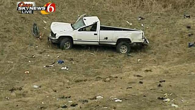 Two Ejected From Pickup In Turner Turnpike Crash