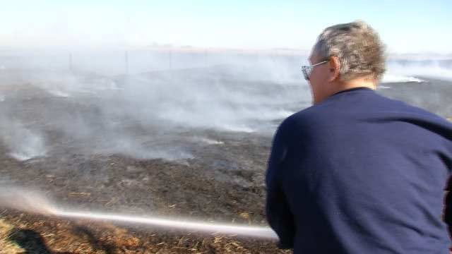 Grass Fires Burn In Northeastern Oklahoma
