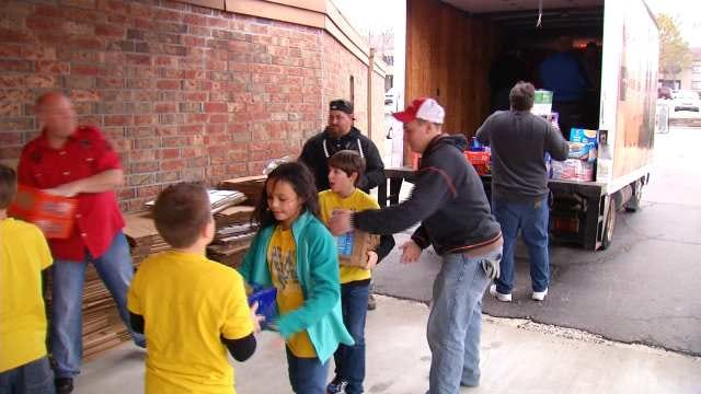 Tulsa Students Compete By Collecting Food For John 3:16 Mission
