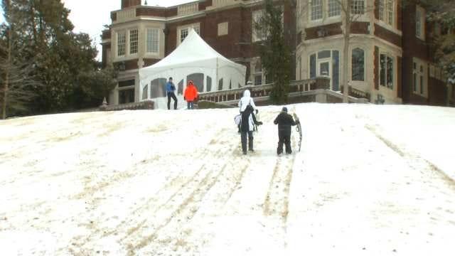 Tulsans Find Ways To Have Fun In Snow Despite Harsh Cold