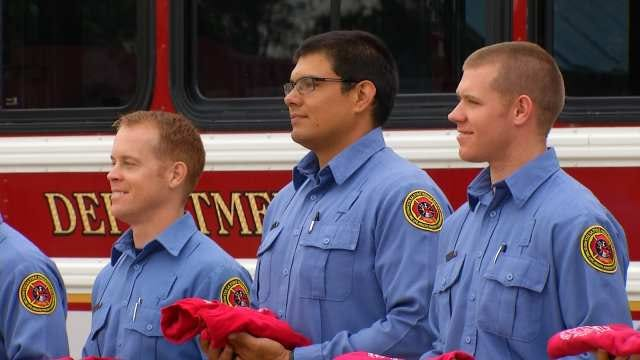 New Tulsa Firefighters Go Through Rite Of Passage Before Taking Oath