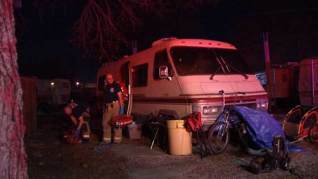 Tulsa Fire Rescues Resident From Motor Home Fire