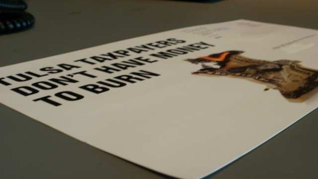 Fliers Against Tulsa Jail Tax: 'Taxpayers Don't Have Money To Burn'
