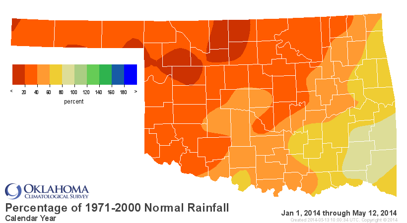Record Dryness Across the State.