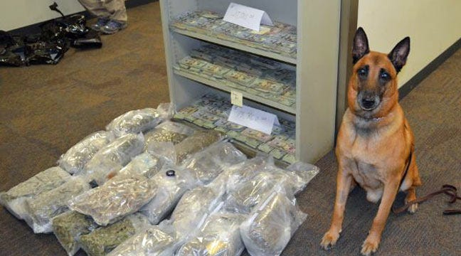 Tulsa K-9 Officer 'Buster' Aids In Drug Bust