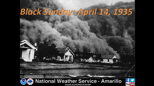 Dick Faurot's Weather Blog: At Least It's Not A Repeat Of 80 Years Ago