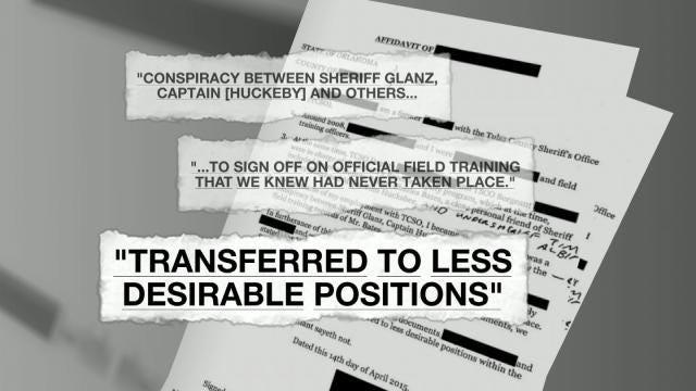TCSO Reserve Deputy's Records False, Affidavit Claims