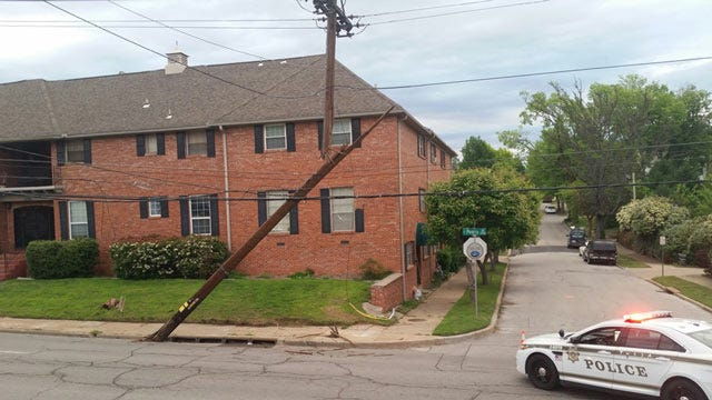Tulsa Road Blocked After SUV Knocks Down Power Pole